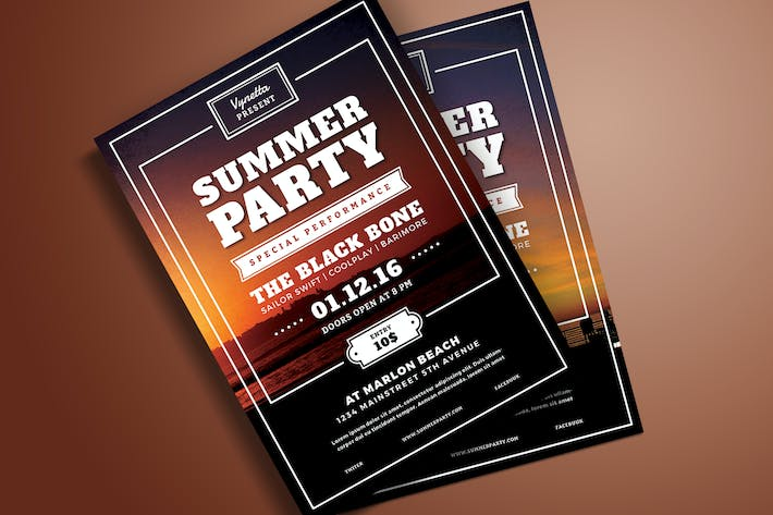 Thumbnail for Summer Party Typography Flyer