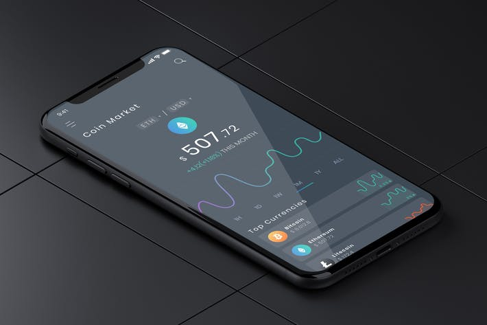 Thumbnail for Coin Market Mobile Ui - B