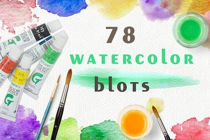 Set of Watercolor Blots