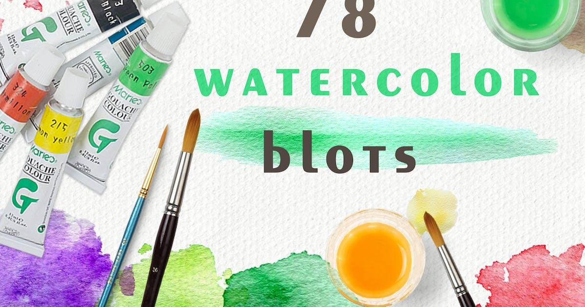 Set of Watercolor Blots by Artness