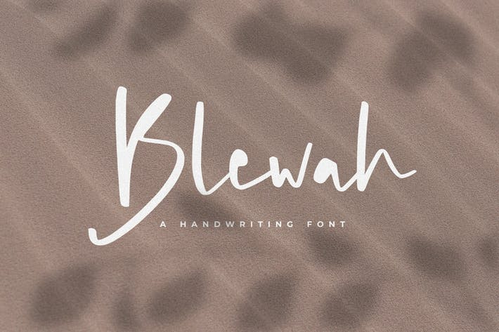 Thumbnail for Blewah - A Handwriting Font