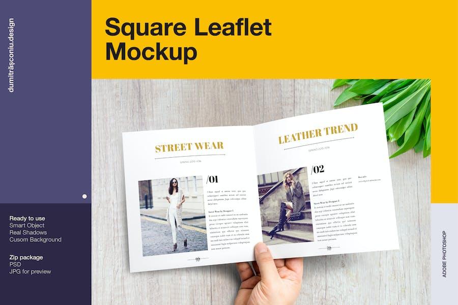 Square Leaflet Mockup