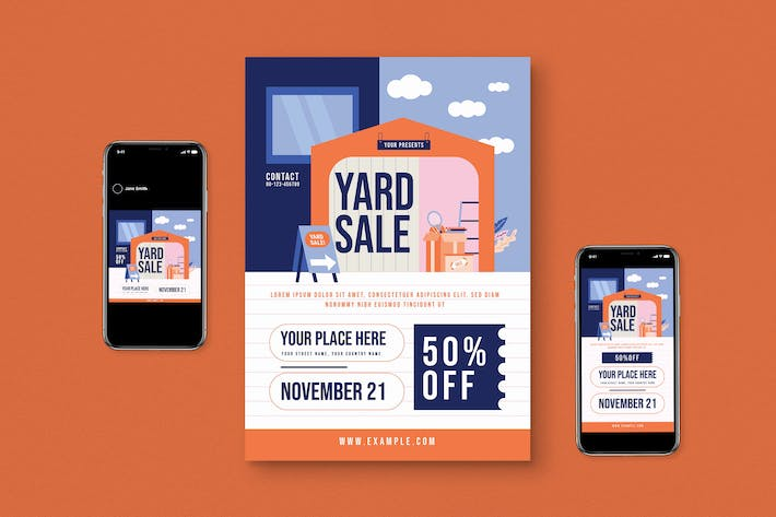 Yard Sale Flyer Set