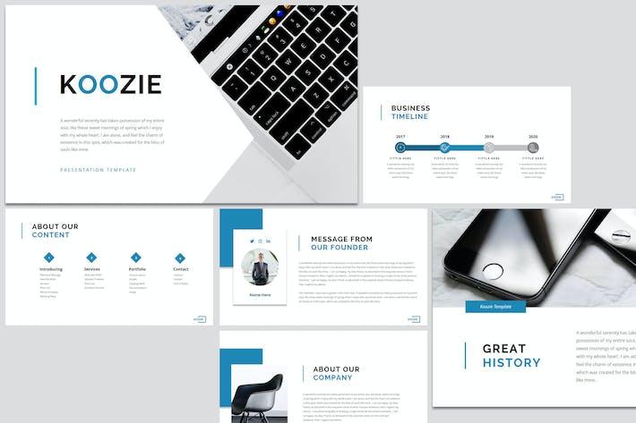 Thumbnail for Koozie - Бизнес Google слайд Шаблон