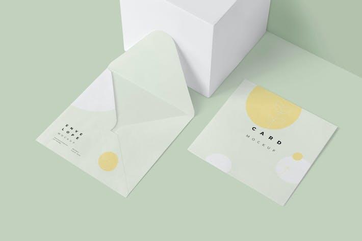 Thumbnail for Maquettes d'enveloppes et de cartes