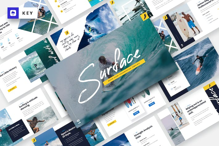 Thumbnail for SURFACE - Water Sport Keynote Template
