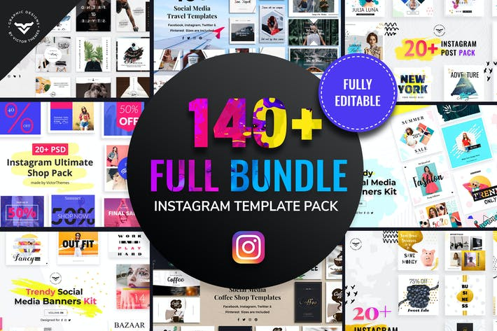 Cover Image For Instagram Post Templates Full Bundle