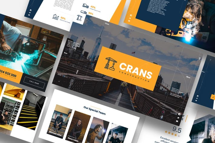 Thumbnail for Crans - Construction Powerpoint Template