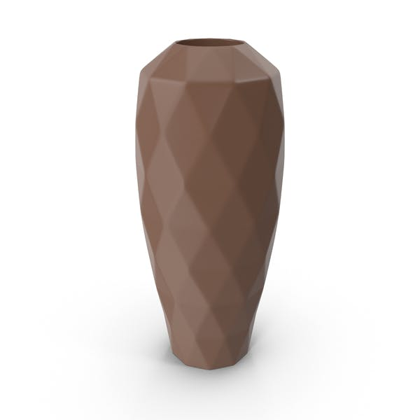 Коричневая ваза