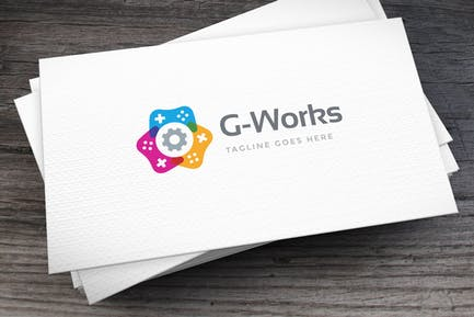 Game Works Logo Template