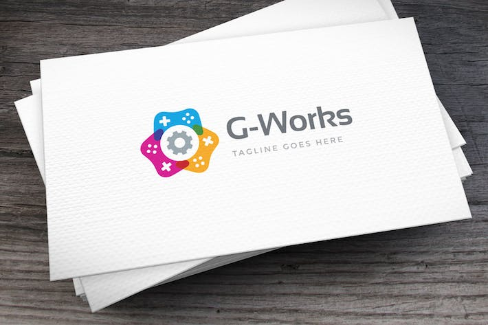 Thumbnail for Game Works Logo Template