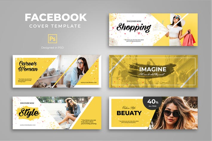 Thumbnail for Facebook Beauty Shopping Cover Template