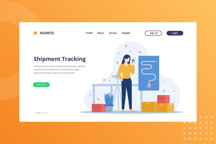 Thumbnail for Shipment Tracking Landing Page