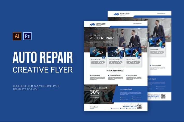 Thumbnail for Auto Repair - Flyer