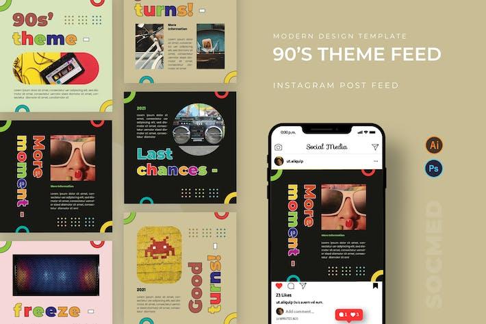 Thumbnail for 90' Theme Socmed Post