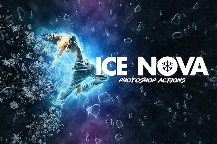 Thumbnail for Ice Nova- Photoshop Action