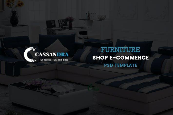 Thumbnail for Cassandra - Furniture Shop e-commerce PSD Template