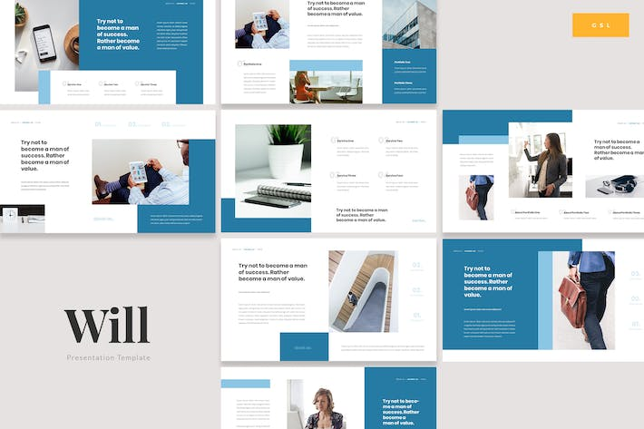 Thumbnail for Will - Insurance Protection Google Slides Template