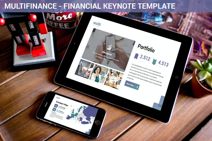 MultiFinance - Financial Keynote Template