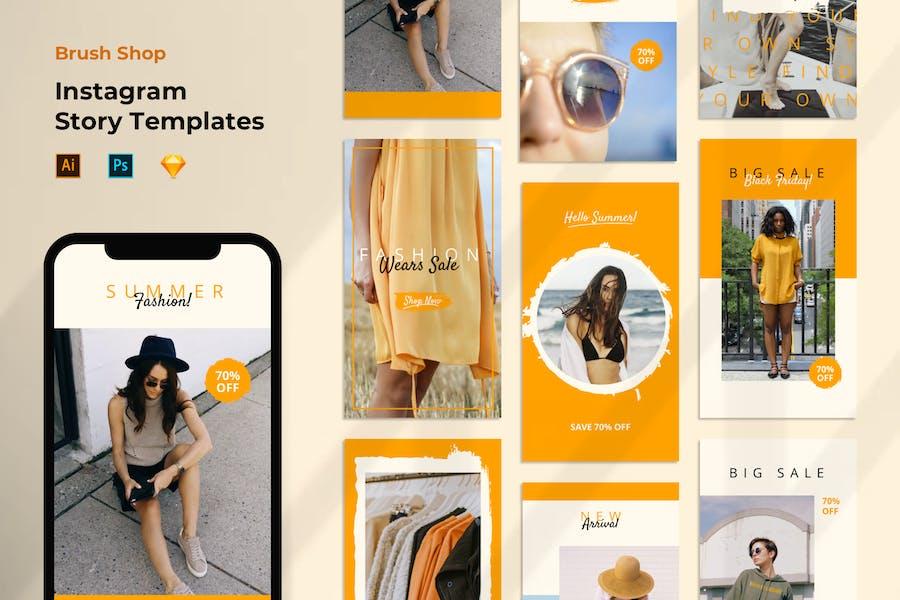 Instagram Story Template Sale Store Shop Summer