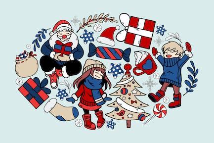 Kindheit Weihnachten Clipart