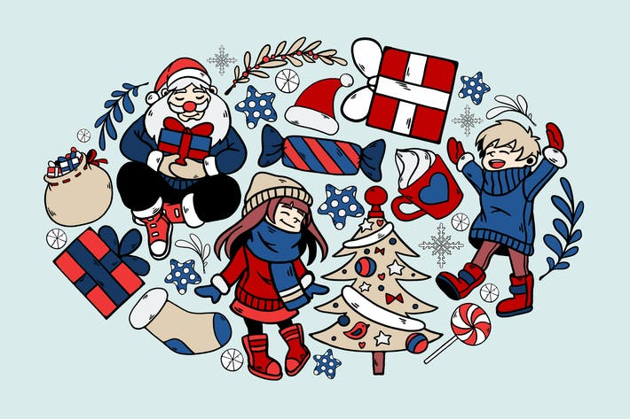 Childhood Christmas Clipart