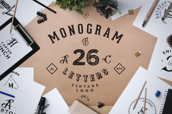 Thumbnail for Monogram. ABC Vintage Logos