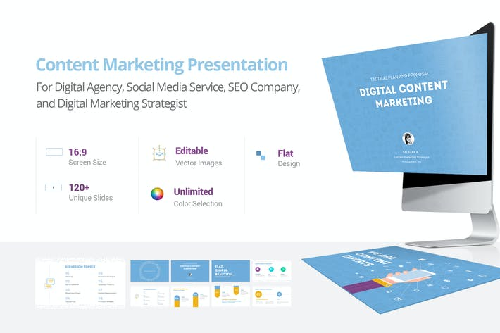 Cover Image For Content Marketing Presentation