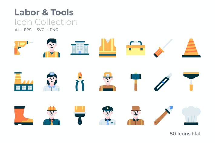 Thumbnail for Labor and Tools Color Icon