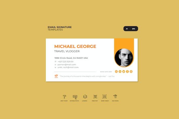 Thumbnail for orange email signature