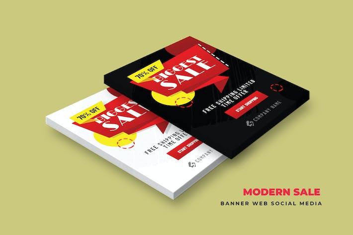 Thumbnail for Modern Sale Banner Web Social Media