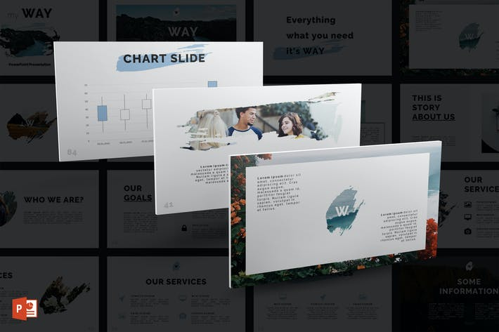 Thumbnail for Way PowerPoint Template