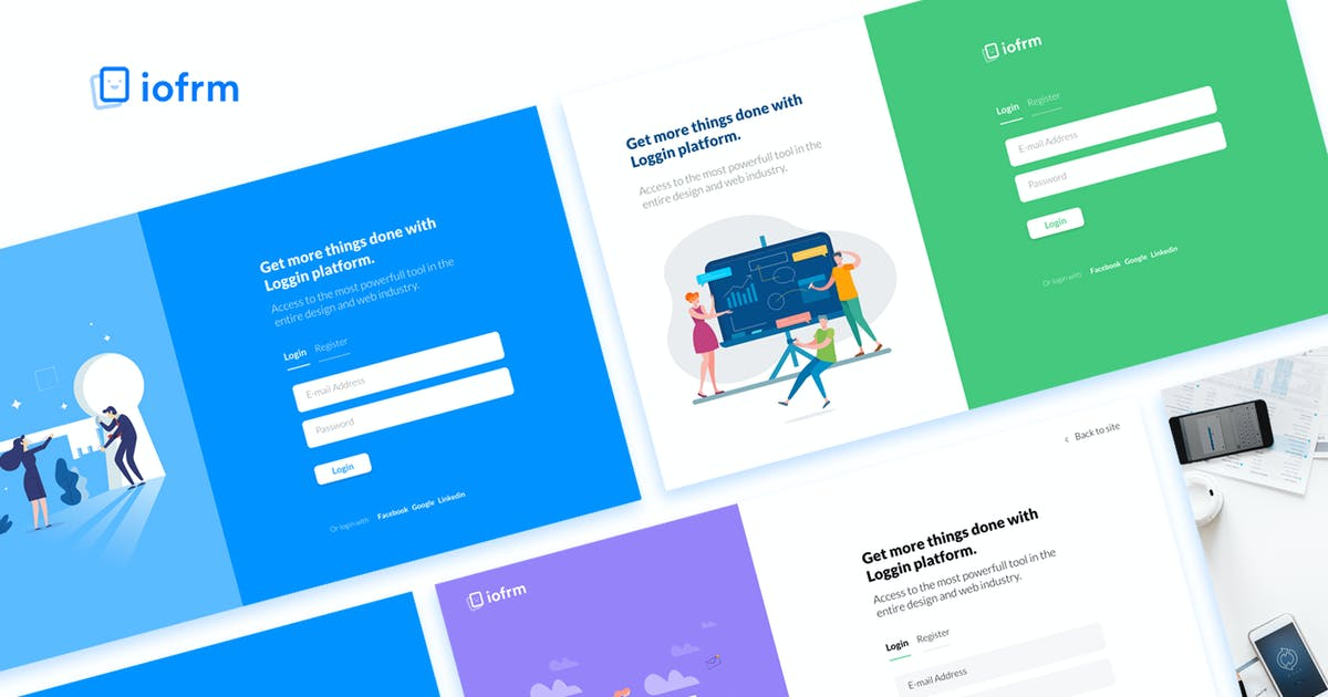 Download Iofrm - Login and Register Form Templates by brandio