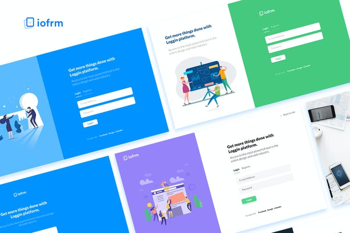 iofrm login and register form templates by brandio on envato elements