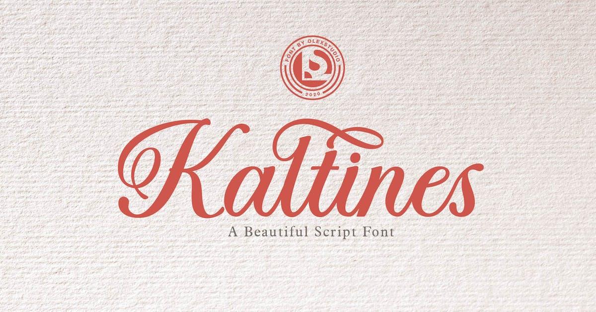 Download KALTINES -Script Font by Olexstudio