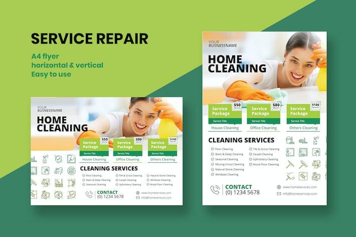 Home Reinigung Flyer