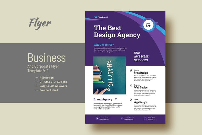 Thumbnail for Business AD And Corporate Flyer V-4