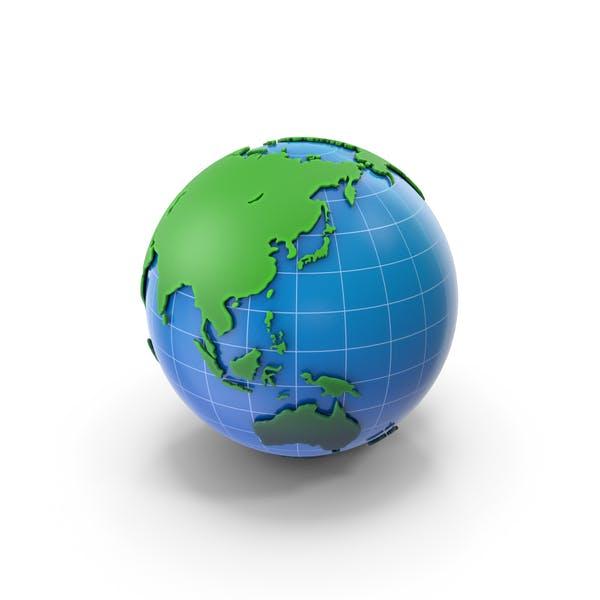 Globe Weiß und Blau