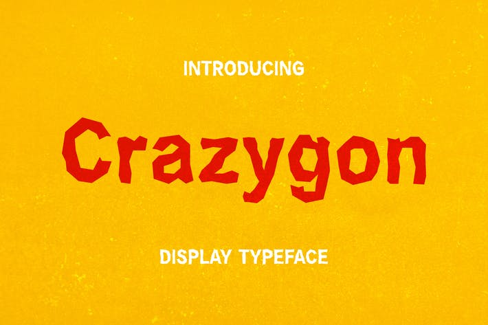 Thumbnail for Crazygon - Display Typeface