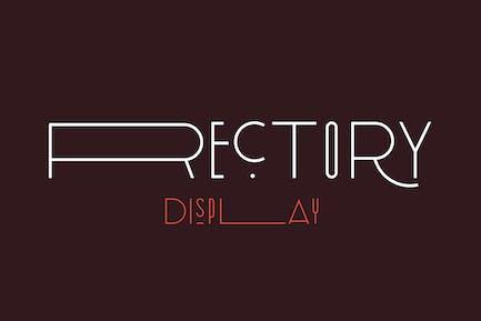 Rectory Display Art-Deco Font