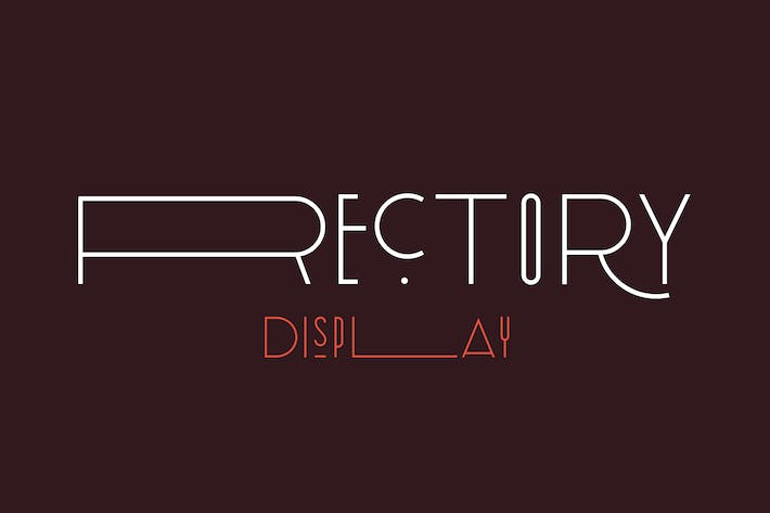 Thumbnail for Rectory Display Art-Deco Font