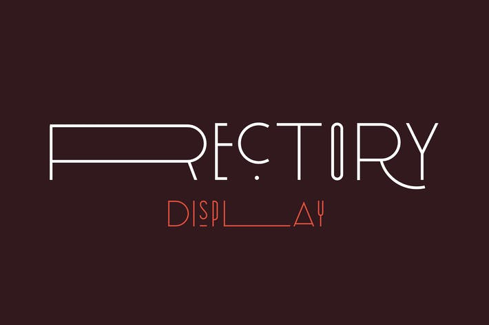 Rectory Display Art-Deco Font