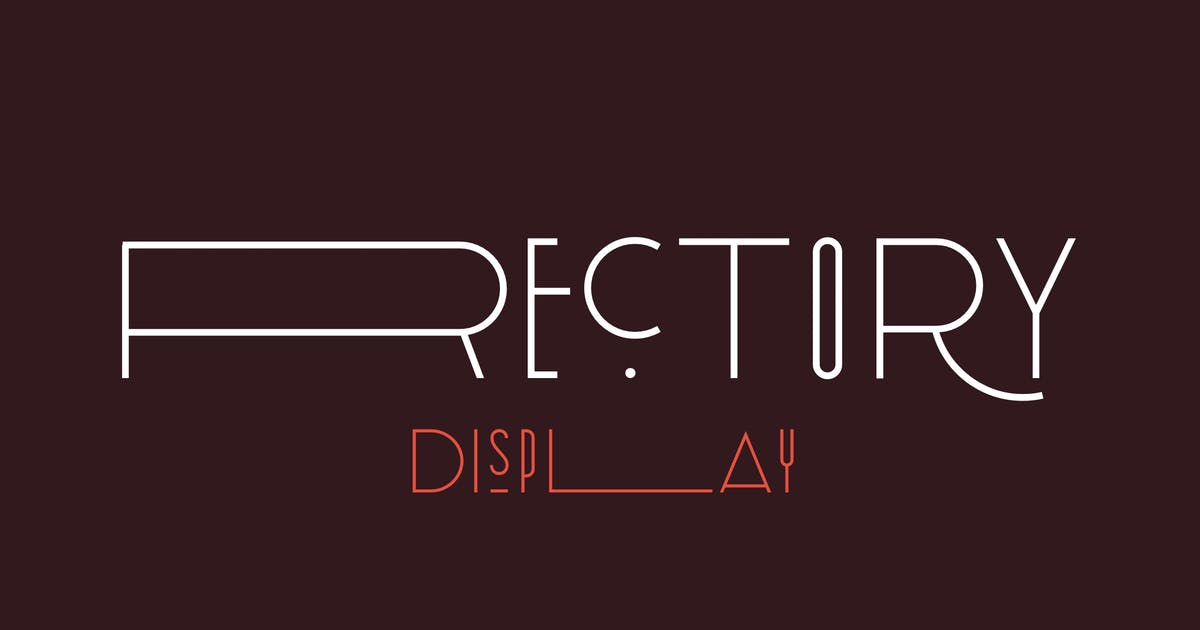 Download Rectory Display Art-Deco Font by Kavoon