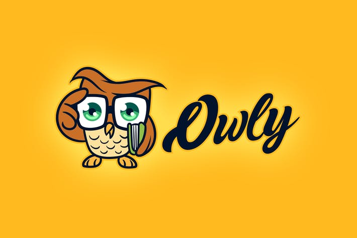 Thumbnail for Cartoon Smart & Cute Little Owl Mascot Logo
