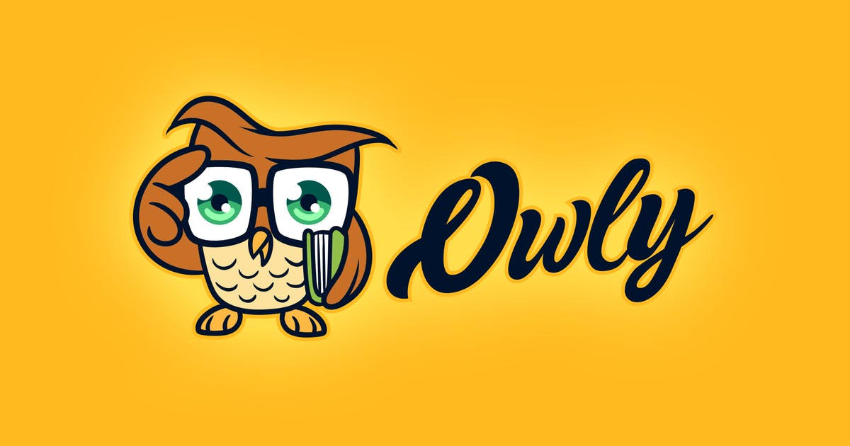 Cartoon Smart & Cute Little Owl Mascot Logo by Suhandi