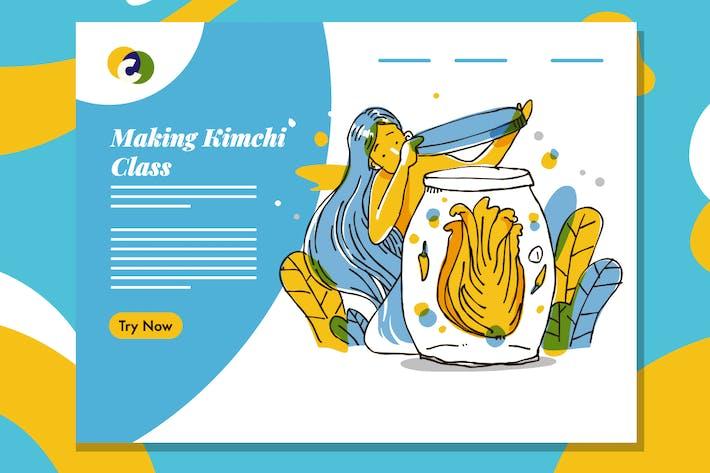 Création de la mise en page Web Kimchi Class