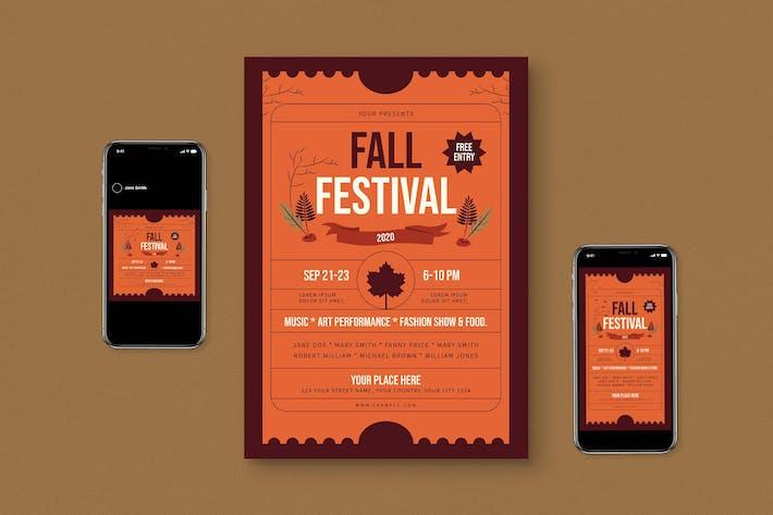 Thumbnail for Fall Flyer Set