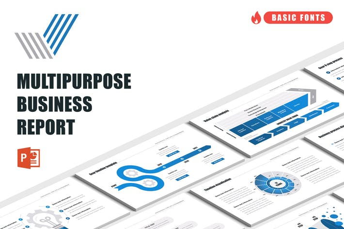 Cover Image For Multipurpose Business Report for PowerPoint