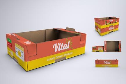 Produzieren Pappschale oder Box Mock-Up