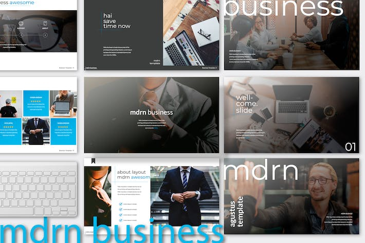 Thumbnail for mdrn business multipurpose powerpoint
